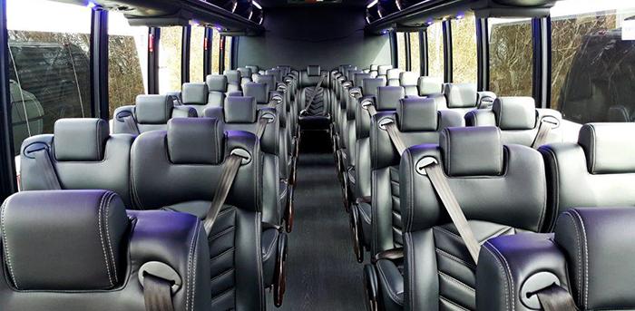 Elegant interior view of Luxury Bus in Miami